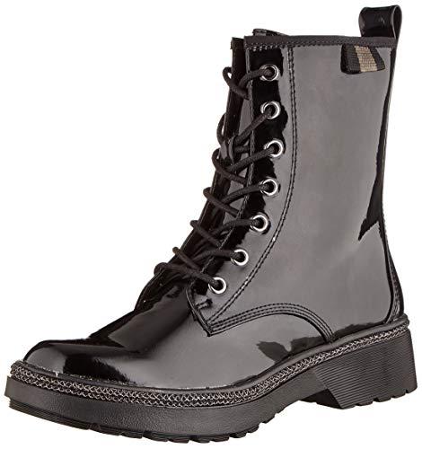 Tamaris Damen 1-1-25224-23 Biker Boots, Schwarz (Black Patent 18), 38 EU
