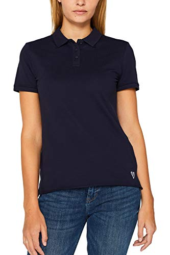 edc by ESPRIT Damen 089Cc1K005 Poloshirt, Blau (Navy 400), Small (Herstellergröße: S)