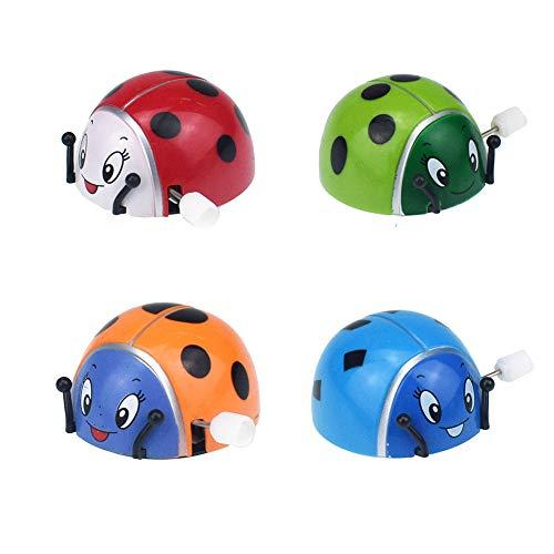 FairOnly PER Quadricottero Kids Colorful Ladybug Wind-up Somersault Rotatable Clockwork Toy (Il miglior Regalo per Le Vacanze Selezionare)