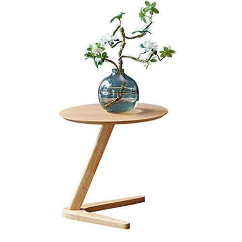 CHYSP. Inizio Side Table Mobili Tavola Rotonda Tavolino da Salotto Piccolo Comodino Design Tavolino Sofaside Minimalista Piccola scrivania (Color : Wood Color)