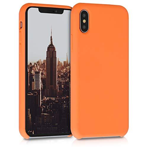 kwmobile Hülle kompatibel mit Apple iPhone XS - Hülle Silikon gummiert - Handyhülle - Handy Hülle in Cosmic Orange