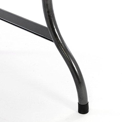 Partytisch Klapptisch Gartentisch Rattan-Optik 180 x 75 cm schwarz stabil Esstisch Buffettisch Tragegriff bis 170 kg - 4