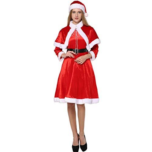 ReneeCho Damen Weihnachten Santa Kostüme Frau Claus Kostüm Adult Outfit Funny Cosplay Party