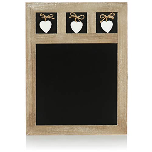 com-four® memo Board - Lavagna per Appendere - Lavagna Decorativa per Scrivere - 40 x 30 cm (01 Pezzo - 40 x 30 cm)