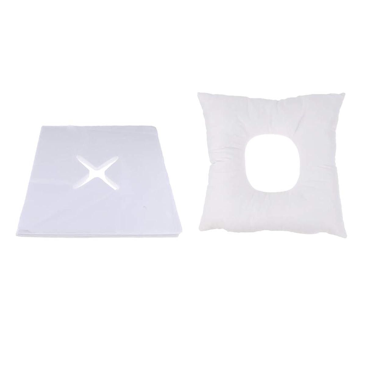 汚い先生反動マッサージ枕 顔枕 フェイスマット フェイスピロー 200個使い捨てカバー付 マッサージテーブル用 快適