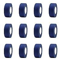 VONGEE 12個1インチペインターテープキットマルチサーフェスに適合書き込み可能引き裂きやすい家の装飾に適合の背後に残留物がない-青