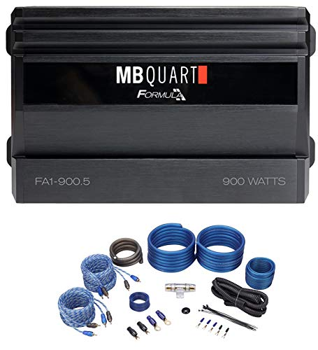 MB QUART FA1-900.5 900 Watt 5 Channel Car Audio Amplifier Class A/B+D+Amp Kit