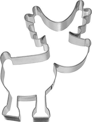 XXL - Ausstechform/Plätzchenform RUDOLF RENTIER (13 cm/Edelstahl - Rostfrei) WEIHNACHTS HIGHLIGHT