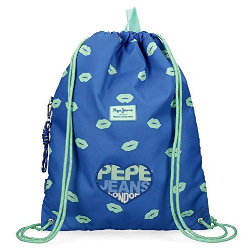 Mochila Saco Pepe Jeans Ruth, Azul, 35x46 cm