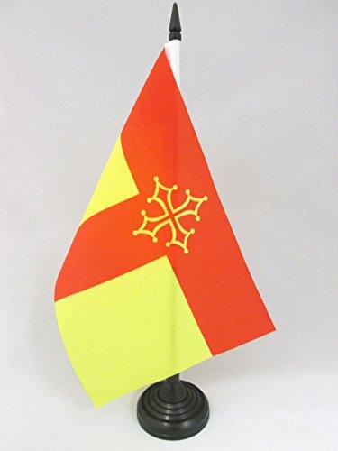 AZ FLAG Bandera de Mesa de Tarn 21x14cm - BANDERINA de DESPACHO Departamento DE Tarn - Francia 14 x 21 cm