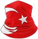 NI Halswärmer mit türkischer Flagge, Gesichtsmaske aus Baumwollsamt für Wintersport im Freien