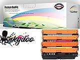 InkyDoo Compatible 4 Color Toner Set for HP LJ M551 HP 507A,1 Ea of Premium Quality Replacements for CE400X, CE401A, CE402A, CE403A,HP Laserjet Enterprise 500 Color M551, HP LJ MFP M575/M570