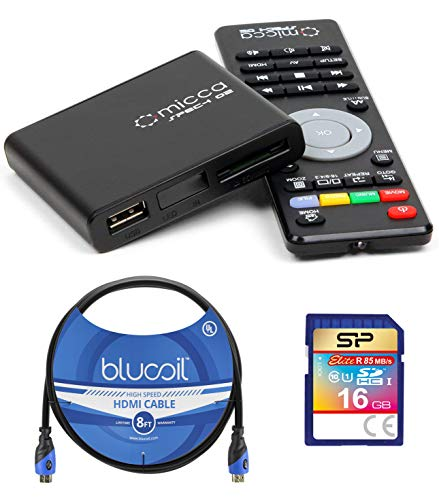 Micca Speck G2 1080p Full HD Ultra Portable Media Player Bundle with Elite