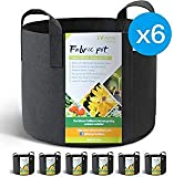 WINNER OUTFITTERS 6-Pack 10 Gallon Grow Bags/Aeration Fabric Pots with Handles...