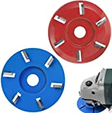 Wood Turbo Carving Disc,6 Teeth Power Wood Carving disc Tool milling Cutter for 16mm(5/8 inch)Aperture Angle Grinder(Arc Teeth&Flat Teeth)