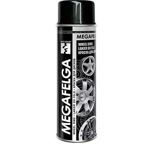 Fahrzeugteile Hoffmann 1 Stück 500ml Felgenlack Felgen Farbe schwarz Glanz 22544