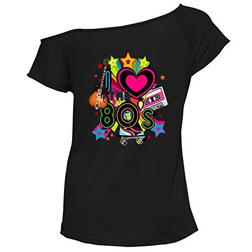 Ladies I Love the 80s Star Explosion T-shirt