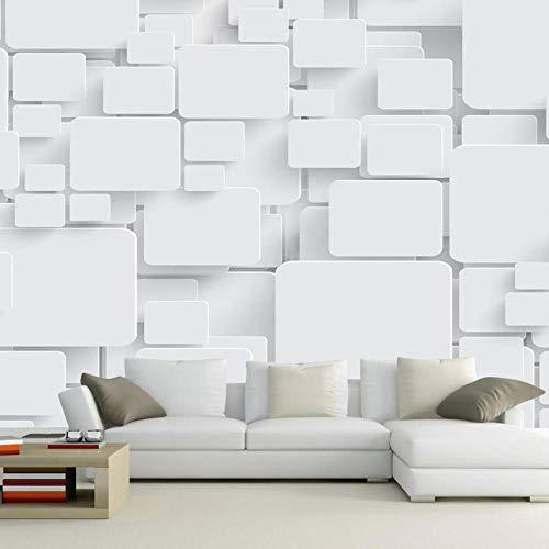 Fototapete Fototapete Cubes Abstrakt 3D Wandtapete Für Wohnzimmer Tv Hintergrund Wanddekoration Wand Dekoration Moderna White 300 * 210Cm