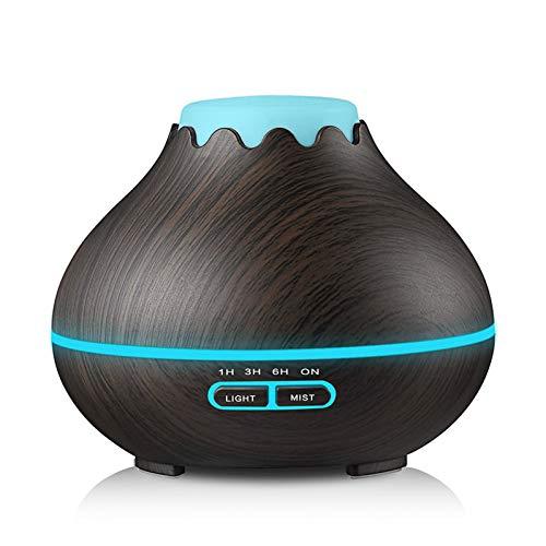 JSQWP Elektrische aromadiffuser, 400 ml, luchtbevochtiger, etherische olie, led-lamp, aromatherapie thuis
