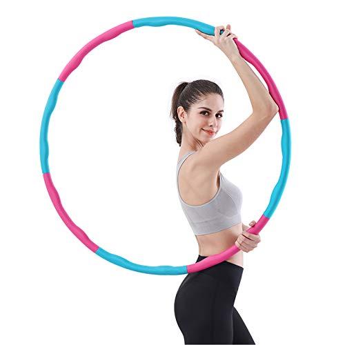 HOWIN Hula-Hoop Reifen, Hula Hoop Reifen Erwachsene zur Gewichtsabnahme und Massage, EIN 6-8-Teiliger Abnehmbarer Hoola Hoop Reifen für Fitness/Training/Büro oder Bauchmuskelkonturen, (1,2 kg)