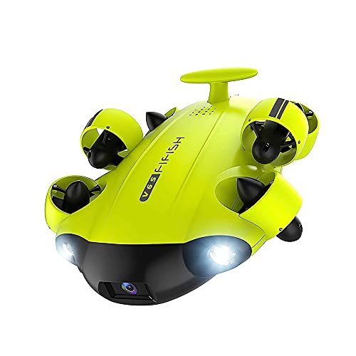 YSKCSRY Under Water Robot 4K UHD Camera Support VR Submarine Dive 100M ROV Live Watch Ocean Video Fishing Camera 6WD Full Posture Multifunzionale Drone