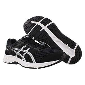 ASICS Men's Gel-Contend 5 Running Shoes, 11.5XW, Black/White