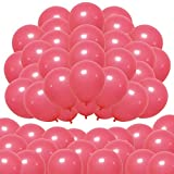 Elecrainbow Macaron Candy Party Balloons 100 Pack 10 inch Latex Balloons for Graduation, Father's Day, Party Decorations, Pastel Red