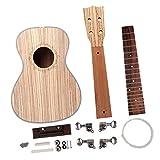 perfk 23 Pulgadas Ukulele DIY Kit, 4 Cuerdas Pintables Ukelele Accesorio Instrumental de Música Bricolaje Hecho de Madera Palisandro