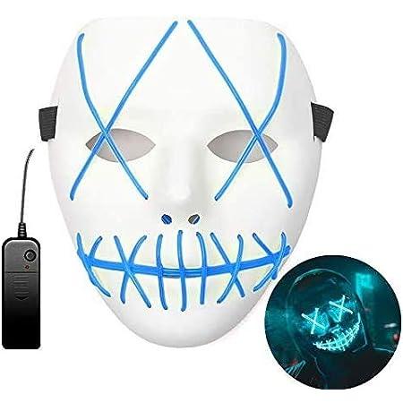 Halloween LED Maschere - Rosso Maschere LED The Purge Costume Terribile per Halloween Cosplay Carnevale Feste Batteria Alimentata Non Inclusa