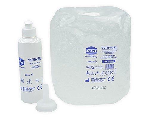 ULTRA GEL 5 kg con dosatore 250 ml (ultrasuoni ecografia laserterapia diagnostica terapie luce pulsata)