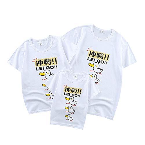 T-shirt Mujer Baratas,Ropa de verano para padres e hijos 2021 nuevo algodón ropa para madre y mujer padre e hijo familia familia de tres parejas camiseta de manga corta-Y01-blanco_XL (masculino y fem