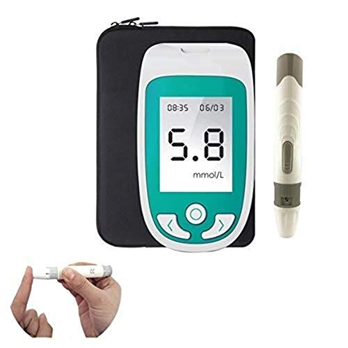 ZJXYYYzj Blutzuckermessgerät 3 in 1 Multifunktions 3 in 1 Test-Messinstrument for Cholesterin/Blutzucker/Harnsäure-Test Wird mit großem LCD-Schirm Multi-Funktions-Detector