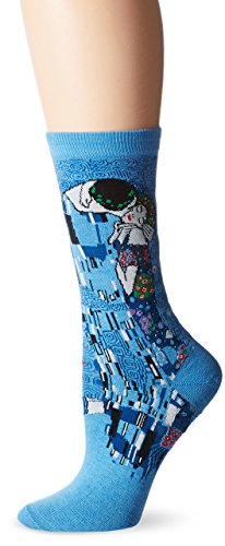 Hot Sox Klimt's The Kiss Blue Socken Crew
