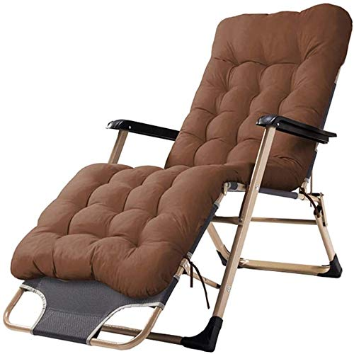 YAOHONG Sun cushions, portable chairs, patio cushions, indoor and outdoor garden terrace, folding deck chairs Comfortable recliner
