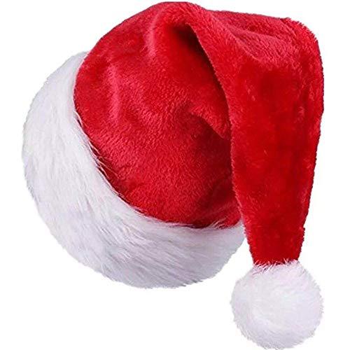 Cappello di Natale,Cappello di Babbo,Cappello Babbo Natale Natale Cappello di Peluche per Adulti e Bambini