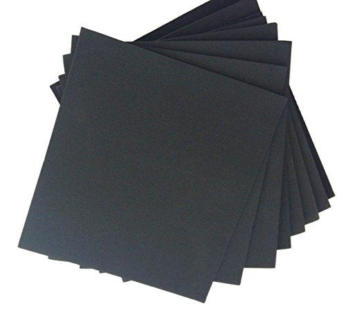 XCEL Large Rubber Sheets Value Pack, Neoprene, 8 Piece 9 x 10 Assorted Thickness DIY for Gasket Material, Made in USA, Easy Cut Material
