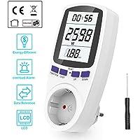 Medidor de Electricidad, Gifort Medidor de Costo de Energía con Pantalla Digital LCD para Cálculo del Medidor de Potencia para Toma