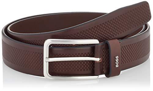 BOSS Calis_Logo-HB_Sz35 Cinturón, Dark Brown202, 85 cm para Hombre