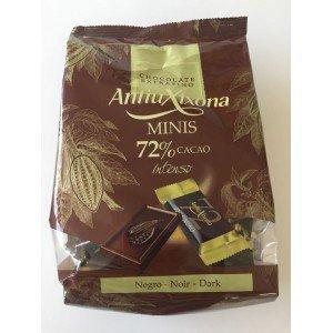Mini chocolatinas de cacao 72% Antiu Xixona bolsa de 1 Kg.