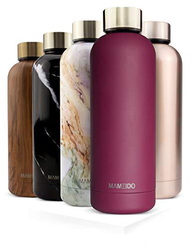 MAMEIDO Borraccia Termica Acciaio Inox, Bottiglia Termos Acqua 500 ml, Riutilizzabile, Senza BPA, per Adulti, Bambini (500 ml, Wild Berry Gold)