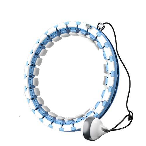 ZHANGda Hula Hoop Inteligente,Adecuado para Deportes al Aire Libre,con Reproductor de música,Hula Hoop Deportivo Desmontable,Equipo Deportivo para Adultos,no Deje Caer el Hula Hoop