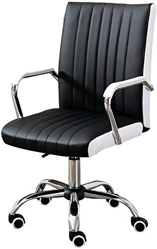 Taburete de bar giratorio para computadora ejecutiva con altura ajustable, ergonómico y respaldo alto para oficina o sala de reuniones Capacidad de cojinete de oficina: 350 libras (color: negro)