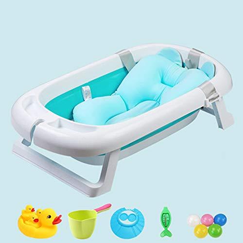 Babybadje, pasgeboren bad, met plank, douche-kaartslot, opvouwbaar, ruimtebesparend, temperatuur ontwerp, beschikbaar voor 0-6 jaar oud
