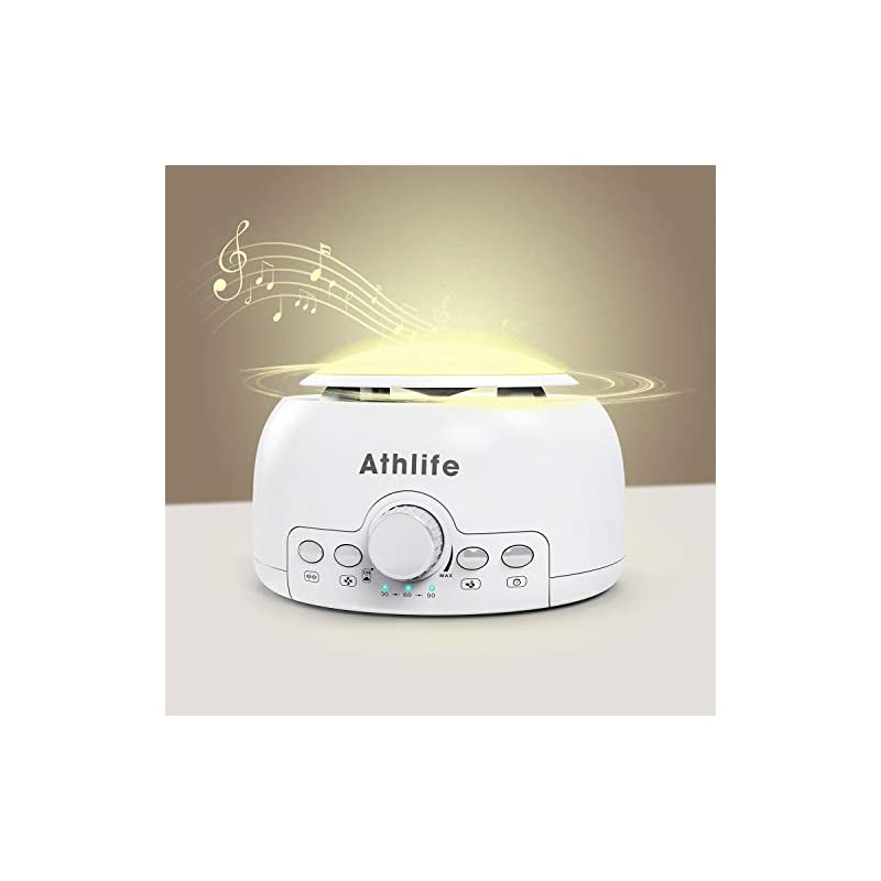 crib bedding and baby bedding athlife white noise machine sleep sound machine night light for baby kid adult with 24 non looping hi-fi soothing sounds, memory feature and auto-off timers for home, office & travel (white)