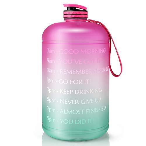 Gallon Water Bottle Portable Water Jug - Fitness Sports...