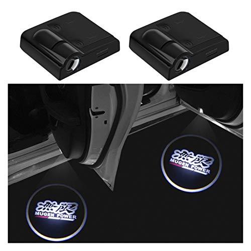 Luces de estacionamiento 2 piezas de LED inalámbrico puerta de coche Bienvenido proyector de la insignia de la sombra del fantasma de las luces compatible con Honda CRV energía de Mugen Hrv Jazz de la