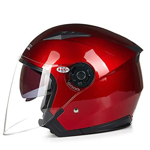 OLEEKA Casco de motocicleta Unisex Scooter Motos Casco Casco Capacete con visor de doble lente Motocicletas Cascos