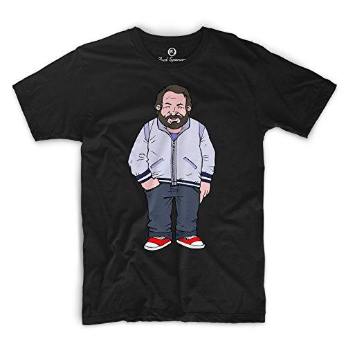 Bud Spencer Herren JUMBO (Zwei ausser Rand und Band) Comic T-Shirt (XL) , Farbe - Schwarz