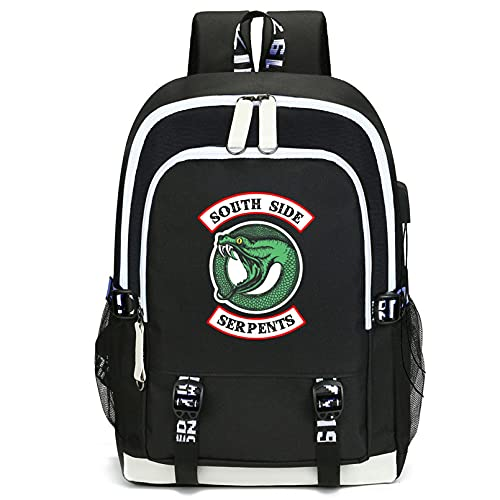 Smkenor Riverdale College High School Bag for Boy Men Women, Laptop Backpack, Business Travel Work Computer Rucksack with USB Charging Port (44cm*30cm*15cm/17 Inch)