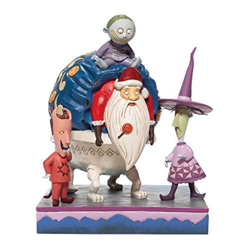 Disney Tradition 6007076 Scena Babbo Natale Personaggi di Mister Jack di Natale